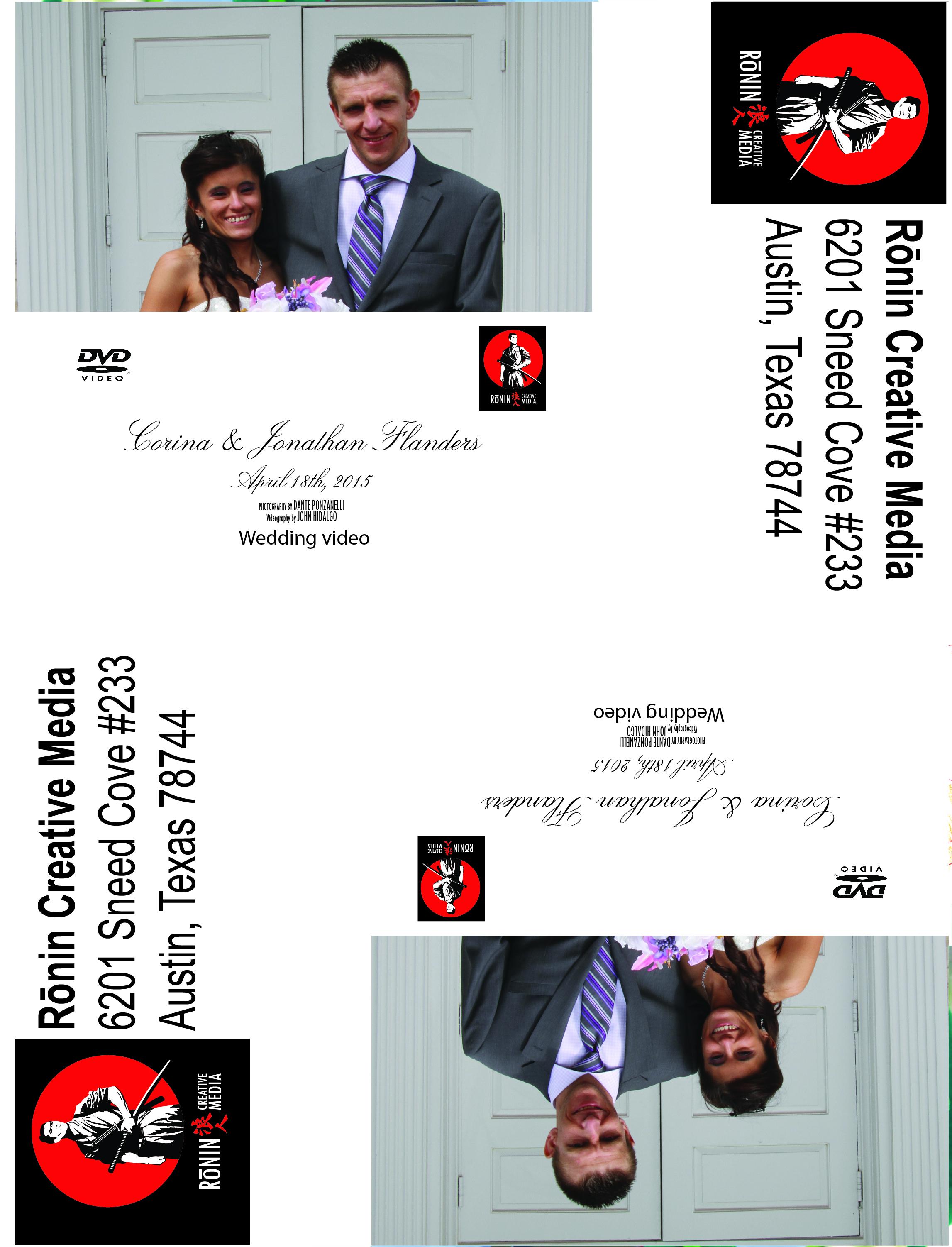 Corina and Jonathan Wedding DVD Label