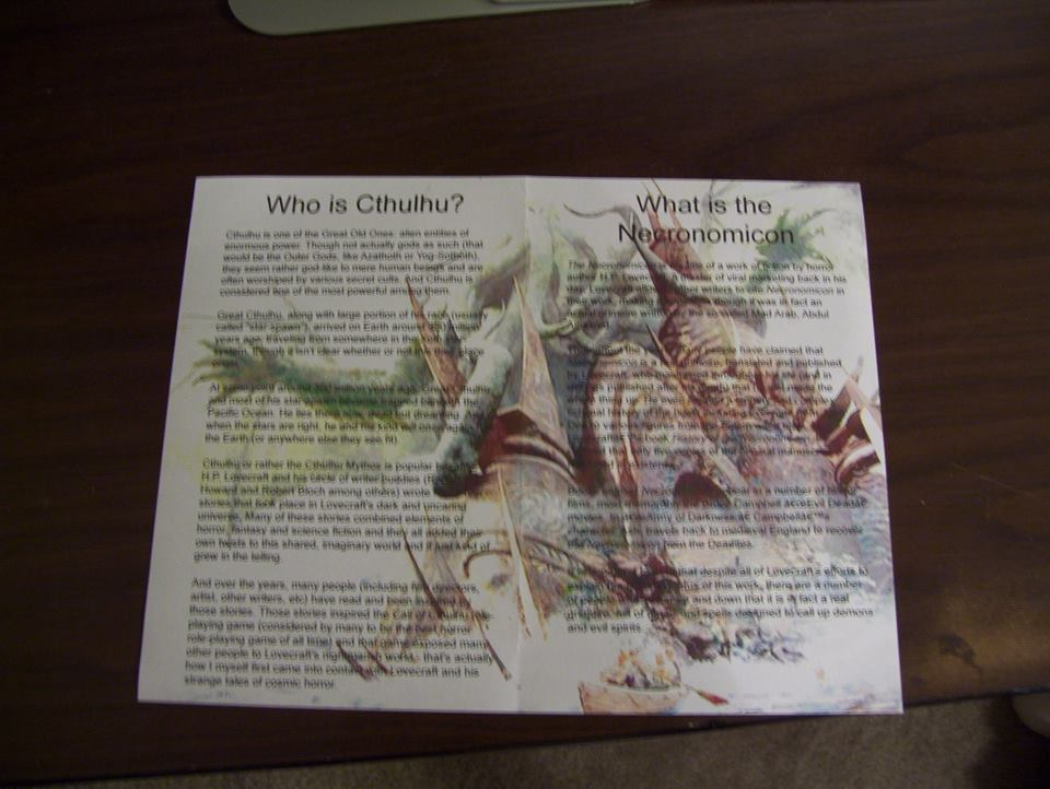 Cthulhu's Witnesses Prop